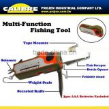 CALIBRE Led light multi-purpose tool with Fish Scraper Fishing Tool with Weight Scale