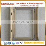 Superior craftsmanship aluminum alloy material lockable poster frames decorative aliminium photo frame
