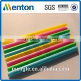 colorful fat bubble drinking straw