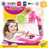 2 in 1 hight and tech learning and drawing board with projector for kids