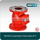 300psi UL/CUL listed fire alarm check valve swing check valve products of alarm valve system