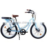 Popular 26'' brushless motor beach cruiser electric bike
