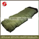 High quality olive green ripstop polyester army military sleeping bag envelope style sleeping bag