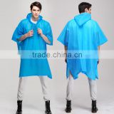 quality plastic disposable cheap raincoat/ PVC rain coat/ Disposable Custom Printed Rain Ponchos