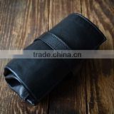 custom high quality leather watch roll case