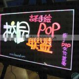 2011 stable quality portable/advertising screen text picture flash animated led writing board