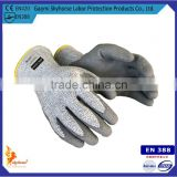 NMSAFETY CE EN388 Cut level 5 coated PU cut protecting working glove/cut resistant gloves