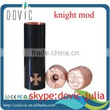 newest knight mechanical mod knight mod clone made of(copper+carbon fiber) with magnetic button