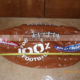 Large Budweiser Bud Light 100% Football Inflatable Beer Blow Up Ball NFL Beach