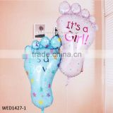 USA Hot Sale Baby foot Foil Helium Balloon 100 Days Baby Shower Party
