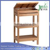 FLOOR CABINET BAMBOO BATHROOM STORAGE SHELF ORGANIZER                                                                         Quality Choice
