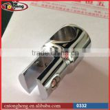 Stainless steel 304 polish Glass shower door stabilizer support tube bar intermedia vertical swival glass clamp
