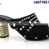 csb7162 many color shining material Italy single shoes for daily life rhinestone flip-flop fashion shoes