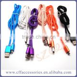 Nylon Fabric Fast Charging Micro USB Cable for V8 for Samsung Android Phones