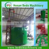 Smokeless gas flow palm kernel shell charcoal making kiln for bamboo