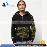 China factory low price high quality round neck 100 % cotton black custom men Wholesale Camo Hoodie Sweatshirt