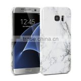 Wholesale for galaxy s7 edge white marble case, for samsung s7 edge hard pc marble texture cover back case