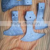 Handmade damascus axe head
