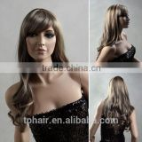 Ladies'Long Hair Curly Wig,Fashion&Personality Fleeciness Big Wave Volume Hair With Tilted Frisette