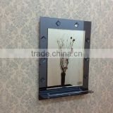 2015 new designed bathroom double layer wall mounted 2 face framed jewelry artistic craftwork mirror