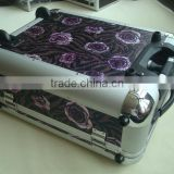 PVC vintage luggage case,polyester make up case trolley makeup bags cases,aluminum luggage case