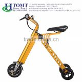 2016 foldable adult /children transport tool electric motorcycle/three wheel electric scooter/e-bike with hand brake brakes