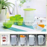 1.5L Plastic Fruit Infused Water Iced Tea Pitcher Set with plastic lid