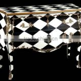 Baroque furniture - Decorative black and white commode