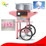 Beautiful commercial candy floss machine with cart /cotton candy floss machine
