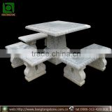 Outdoor Decorative Marble Stone Table and Benches