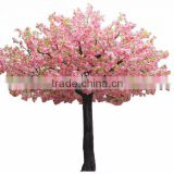 2017 hot sale ornamental artificial flowering plants artificial cherry blossom tree for decoration