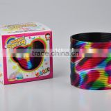 wholesale colorful classic rainbow spring toys/hot sale magic rainbow circle