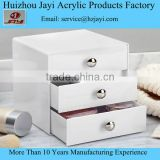 Plastic Cosmetic Stroage Boxes Clear Crystal Cube Makeup Boxes 2016 New Acrylic Large Makeup Organizer Wholesale JYSB-16506