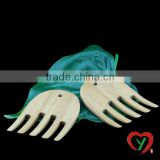 100% natural bamboo salad hands