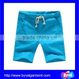 wholesale custom 100%cotton plain blank men's board shorts fashion casual beach shorts
