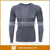 Customized men 's Compression shirt sports fitness Tight Athletic long sleeve gym wear