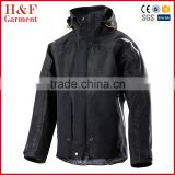 Black riding jacket motorcycle polyester heating jacket cycling rain jacket