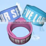 logo printed wide slap wristbands