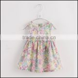 OEM digital print soft thin cotton poplin baby dress