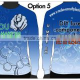 Made to order custom fishing jersey UV protection