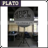 Waterproof fabric printed inflatable halogen stand balloon with blowers