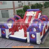 Inflatable donut bouncy castle, jumping castle, inflatable bouncer castle with arch