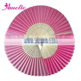 AF1412 Light pink and hot pink baby favour hand fans