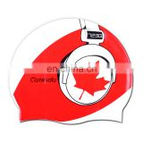 Waterproof 100% Silicone Swim Cap for Canada Swimmers