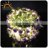 LED Hair Flower Head band Artificial Wreath for wedding
