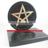Soapstone Black Candle Stand