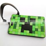 custom 3D rectangle pvc luggage tag for national day travle of autumn