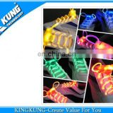 Popular flashing led shoes lace for kids shoe