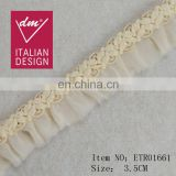 New Products cotton and Chiffon Fashion Chariming Design Lace Trims
