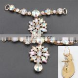 Cheap AB color lady sandal ornament Shoe Chain Decoration Rhinestone Decorations For Shoes